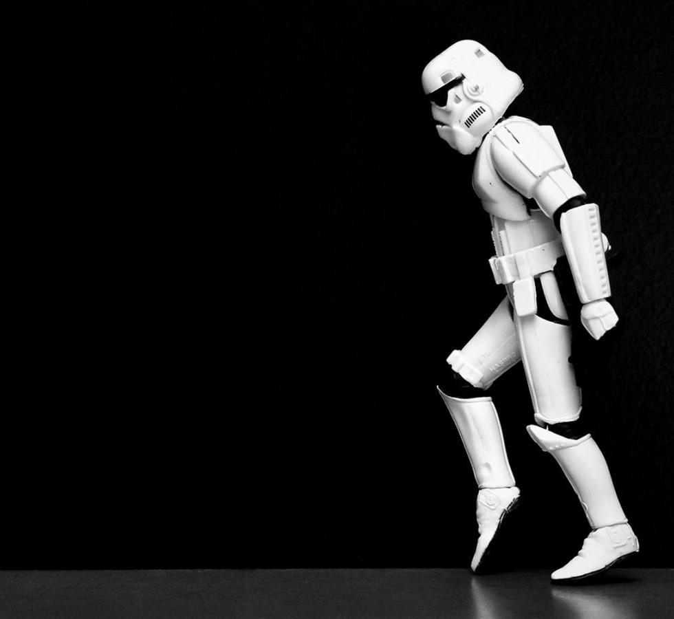 Moonwalking Stormtrooper