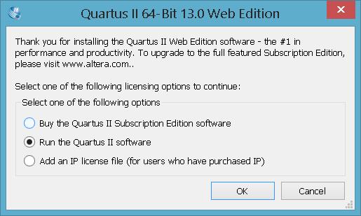 Abrindo o Quartus II