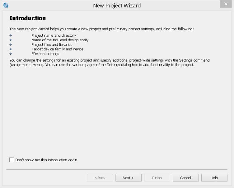 Assistente de Novo Projeto: Introdução