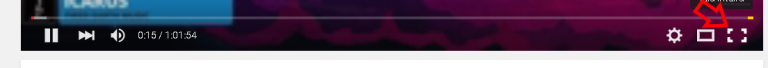 Tela cheia no YouTube