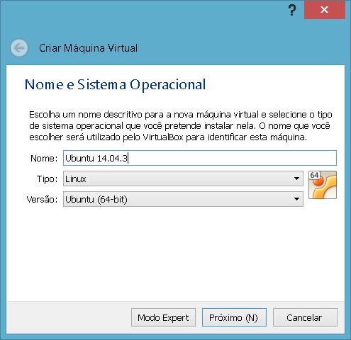 Nome, Tipo e Versão da Máquina Virtual